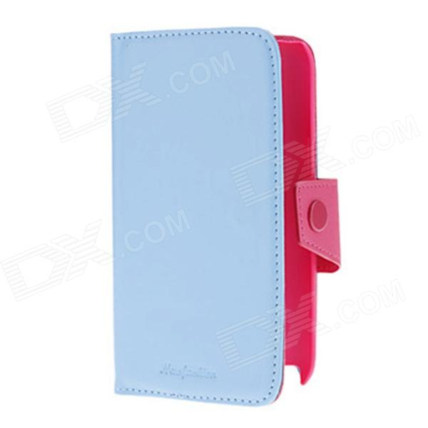 Kinston PU Leather Case w/ Card Slot / Stand for Samsung Galaxy Note 2 N7100 - Blue + Deep Pink protective pu leather case w card slot for samsung galaxy tab3 p3200 deep pink