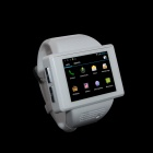 "Wearable Smart Phone Watch AN1 2.0"" Touch Screen Android 4.1.1 w/ Camera / Wi-Fi - White + Silver"