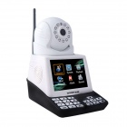 WANSCAM HW0035 0.3 MP CMOS Telephone Network Camera w/ 11-IR LED - White + Black