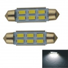 Adorno 41mm 3W 300lm 6 x SMD 5630 LED blanco auto lectura luz / - lámpara de techo (2 PC / 12V)