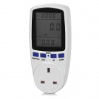TaiShen TS-83 13A 2900W UK Plug Socket Digital Power Watt Volt Amp Energy Meter Analyzer - White