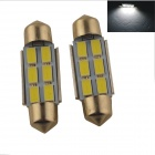 Festoon 36mm 3W 300lm 6 x SMD 5630 LED White Car Reading Light / Roof Lamp - (2 PCS / 12V)