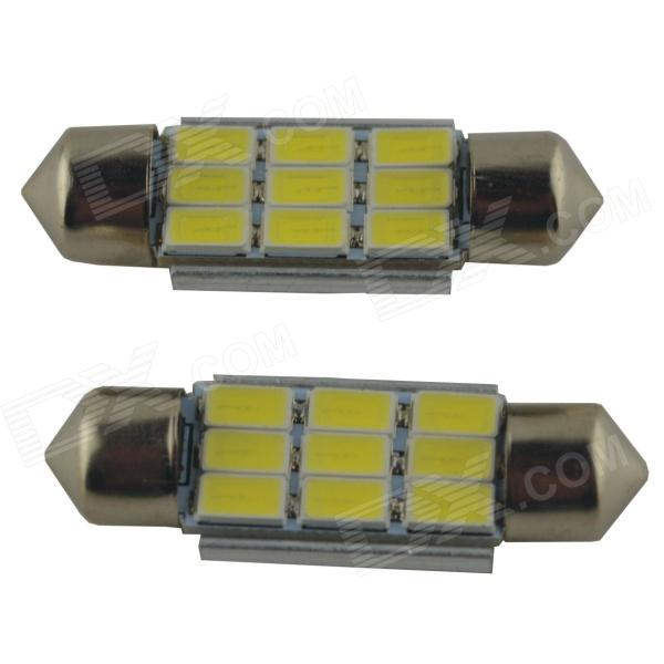 Festoon 36mm 4.5W 450lm 9-SMD LED White Car Reading Light (2PCS / 12V)