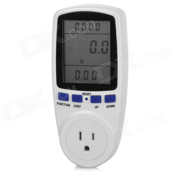 TaiShen TS-836 15A 1800W US Plug Socket Digital Power Watt Volt Amp Energy Meter Analyzer - White g t power 130a 150a rc watt meter power analyzer digital lcd tester 12v 24v 36v high precision