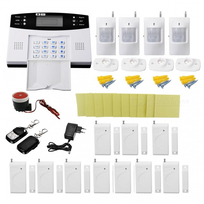DP-908A Home Burglar Security Alarm System w/ Detector Sensor Kit / Remote Control