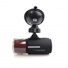 "PORTWORLD T600 1.5"" TFT 5.0 MP 360-Degree Rotatable Camera HD Car Recorder DVR - Dark Red + Black"