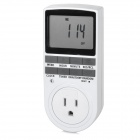 "TaiShen TS-839 US 3-pin Plug 15A 1800W Digital 2.3"" LCD Programmable Switch Timer - White (120V)"
