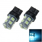 7443/7440 / T20 3W 200LM 13 x 5050 SMD LED Car Blue Ice Steering / luz de freio - (12V / 2 PCS)