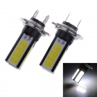 SENCART H7 10W 500lm 4 x COB SMD LED White Light Car Foglight - (12~24V / 2 PCS)
