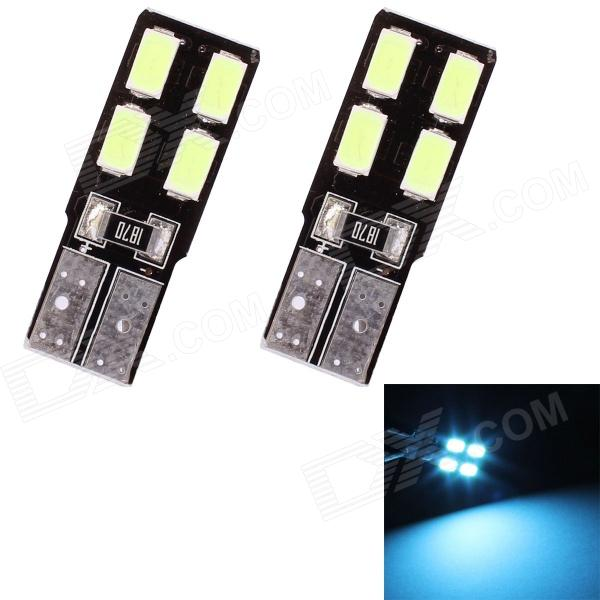 T10 2W 180lm 4 x SMD 5630 LED Ice Blue Light Car Clearance Lamp Lens - (DC 12V / 2 PCS)