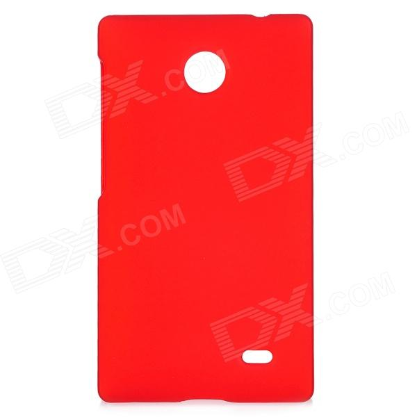 Protective Matte Plastic Back Case Cover for Nokia X - Claret Red matte protective pe back case for htc one x s720e red