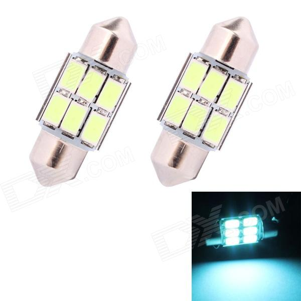 цены на Festoon 31mm 3W 270lm 6 x SMD 5630 LED Ice Blue Light Car Auto Reading Lamp / License Plate Light в интернет-магазинах