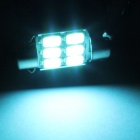 Festoon 31mm 3W 270lm 6 x SMD 5630 LED Ice Blue Light Car Auto Leselampe / License Plate Lys