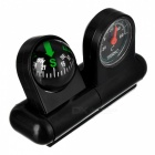 New Edition Anti-Shock Professional Vehicle In-Car Thermometer + Compass - Black + Red (10 PCS)