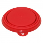 EasyCat tazón Portable Nueva silicona Pet Dog Cat Food agua plegable - Rojo