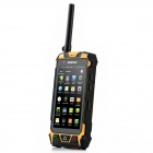 Water-proof Dual Core Android 4.2 Phone w/ Dual SIM / Walkie Talkie / Infrared Laser Light - Black