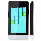 "M-HORSE H3039 Capacitive Screen Android 2.3 Bar Phone w/ 4.0"" / Wi-Fi / Bluetooth - Black + White"