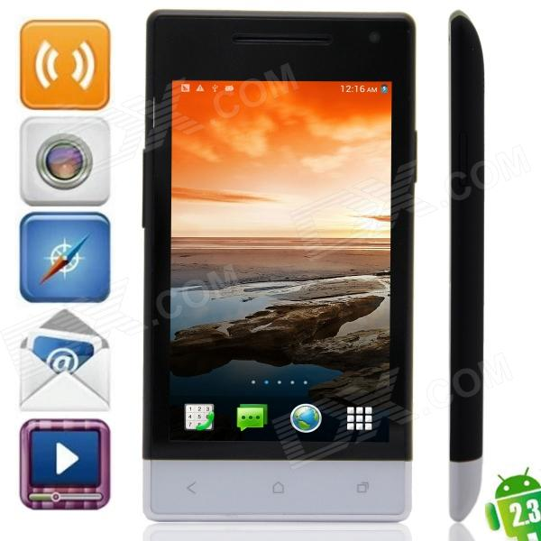 "M-HORSE H3039(E26) SC8810 Android 2.3.6 GSM Bar Phone w/ 4.0"", Wi-Fi, FM - Black + White"