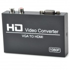 VGAHD101 VGA to 1080P HDMI Video Converter w/ 3.5mm Jack - Black