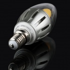 E14 5W 380lm 2700K Quantum Dots Remote Phosphor 270 Degree 1-LED Candle Light Bulb - (90~265V)