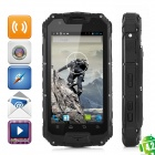 "Water-proof Quad Core Android 4.2 Phone w/ 4.5"", Dual SIM, Walkie Talkie, 4GB ROM - Black"