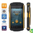 "A129 Rugged Shockproof Dual Core Android 4.0 WCDMA Phone w/ 3.5"", GPS - Black + Orange"