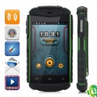 "A129 Rugged Shockproof Dual Core Android 4.0 WCDMA Phone w/ 3.5"", GPS - Black + Army Green"