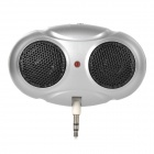 Big Eye Style PP 1W 3.5mm Plug Speaker - Silvery Grey (3 x AAA)