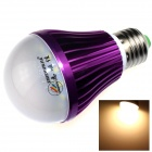 ZHISHUNJIA E27 7W 600lm 3000K 14 x SMD 5630 LED Warm White Light Bulb - White + Purple (85~265V)