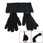 OUMILY Prevent Cut Gloves + Prevent Cut Arm / Arm Guard / Arm Wrap - Black (Pair)