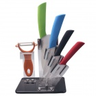 "RIMON DJSW3456 Western-style 3"" / 4"" / 5"" / 6"" Kitchen Knife + Peeler + Rest Set - Multicolored"
