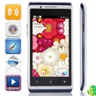 "mixc X5 SC7710 Android 4.1.2 WCDMA Bar Phone w/ 4.0"", FM and Wi-Fi - White + Dark Blue"
