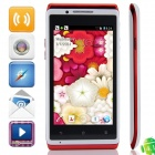 "mixc X5 SC7710 Android 4.1.2 WCDMA Bar Phone w/ 4.0"", FM and Wi-Fi - White + Red"