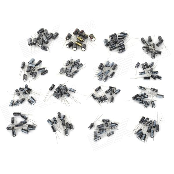 Semiconductor Plug condensador electrolítico Set - multicolor (160 PCS)