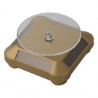360 Degree Rotatable Solar Showcase B-D for Jewelry, Jade, Watch, Perfume, Bracelet Display - Golden