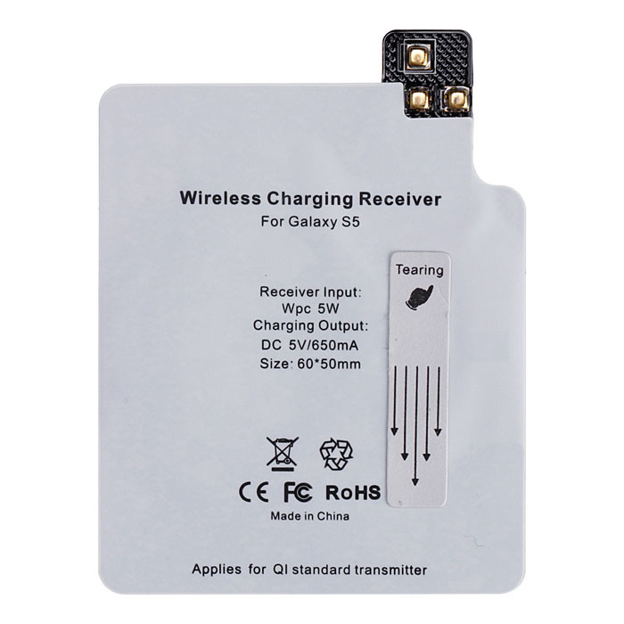 Itian High Quality QI Standard Ultra Thin Wireless Charger Receiver Module for Samsung Galaxy S5