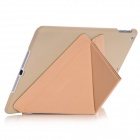 Samdi Ultra-thin Protective PU Leather Case Cover Stand w/ Auto Sleep for IPAD AIR - Golden