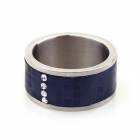 Smart NFC Ring for Smart Phone / Unlock Door - Blue + Silver (Circumference 57.1mm)