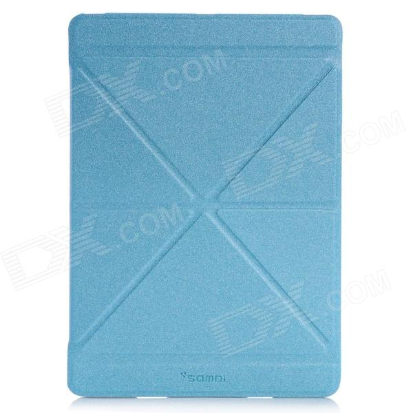 Samdi Ultra-thin Protective PU Leather Case Cover Stand w/ Auto Sleep for IPAD AIR - Blue onda v919 air v919 air ch v919 air 3g protective leather case blue