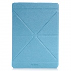 Samdi Ultra-thin Protective PU Leather Case Cover Stand w/ Auto Sleep for IPAD AIR - Blue