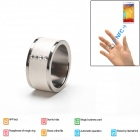 Intelligent Magic Ring with NFC for Smart Phone - White + Silver (Size 11)