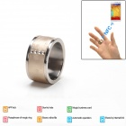 Intelligent Magic Ring with NFC for Smart Phone - Champagne Golden + Silver (Size 11)