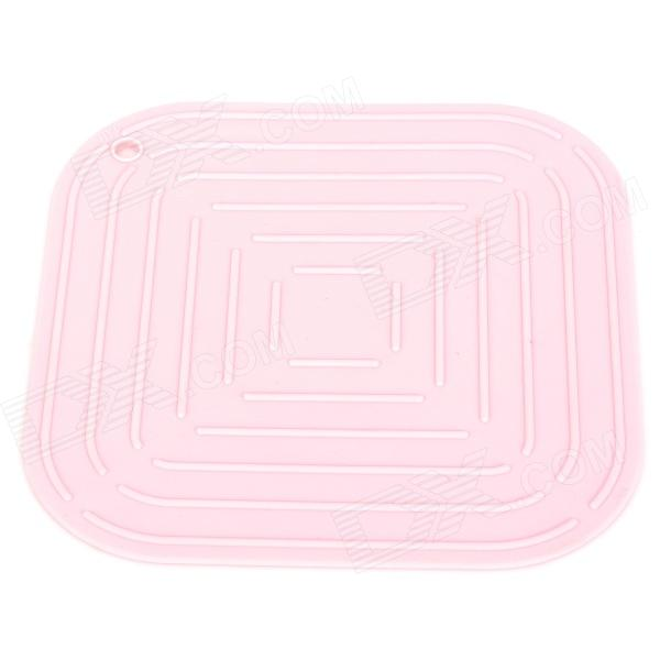 TZ-CD001FH Environmental Silicone Kitchen Heat Insulation Pad - Pink