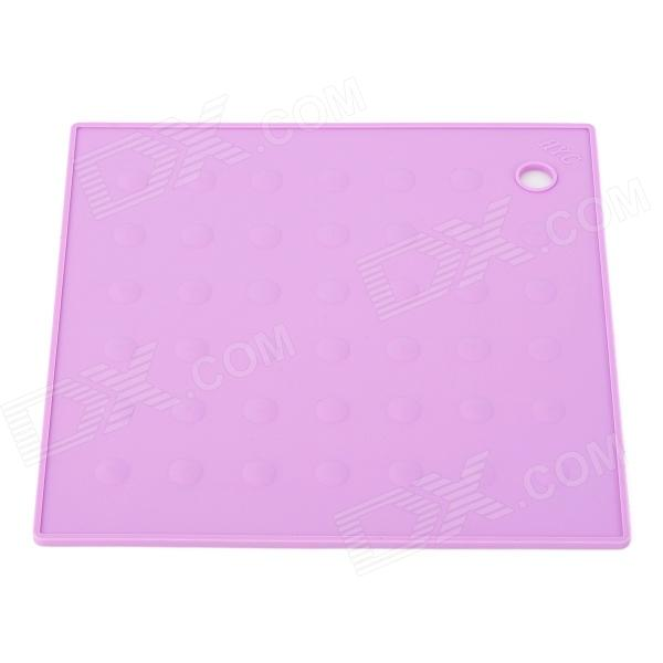 TZ-ZD001CS Square Shaped Environmental Silicone Kitchen Heat Insulation Pad - Light Purple