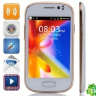 "M-HORSE GT-S6812(GT-S6810P) SC6820 Android 2.3.6 GSM Bar Phone w/ 3.5"", Wi-Fi, FM - White + Golden"