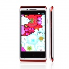 "X5 Capacitive Screen Android 2.3 Bar Phone w/ 4.0"" IPS / Dual Core / Bluetooth / Wi-Fi - White + Red"