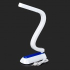 LD080 Fashion S-Style Rechargeable 24-LED Induction Dimming Eye-Protection Table Lamp - White + Blue