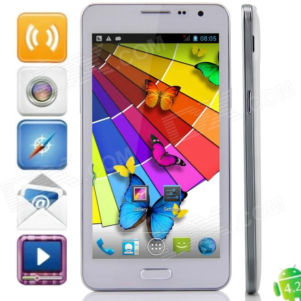 N900(SM-N900) MTK6572 Dual-Core Android 4.2.2 GSM Bar Phone w/ 5.3 IPS, Wi-Fi, FM - White