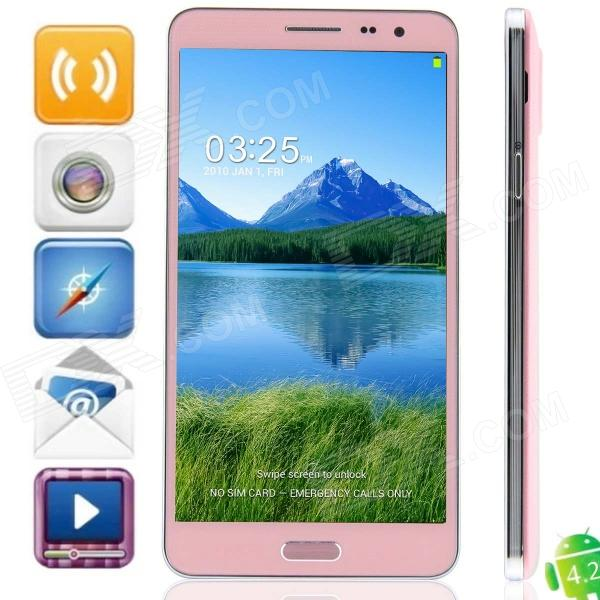 N9800 MTK6592 Octa-Core Android 4.2.2 WCDMA Bar Phone w/ 5.7 IPS HD, Wi-Fi, OTG, GPS - Pink zopo zp1000 android 4 2 octa core wcdma bar phone w 5 0 screen wi fi and rom 16gb blue black
