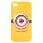 Bugu SJ2 Cartoon Michael Wazowski Pattern Protective PC Case for IPHONE 4 / 4S - Yellow